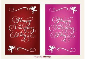 Cartes vectorielles valentines