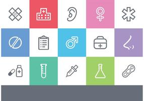 Iconos de Medical Outlined Vector gratis