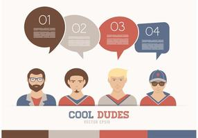 Gratis Vector Cool Dudes Avatars