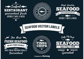 Rótulos de vetor de frutos do mar