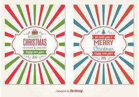 Vecteurs de carte de Noël de style rétro