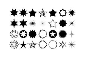Formas de estrela de vetor