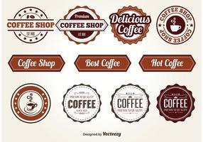 Éléments vectoriels du café
