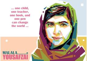 Malala Yousafzai Portret Vector