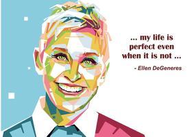 Ellen DeGeneres Vector Porträtt