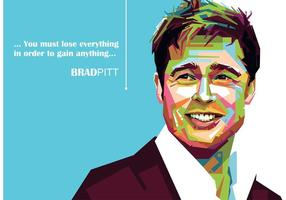 Brad Pitt Vector Portret