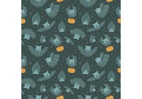 Flying Bats Vector Seamless Pattern