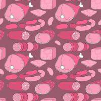 Vector Ham Seamless Pattern