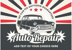 Retro Auto-Plakat-Vektor