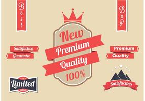 Gratis Rode Vector Label Set