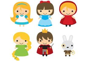 Vetores de personagens de conto de fadas