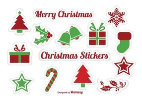 Kerstmis Sticker Vectoren s