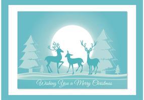 Tarjeta del vector de la Navidad