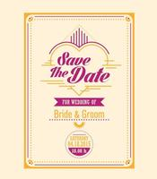 Gratis Wedding Vector Sjabloon