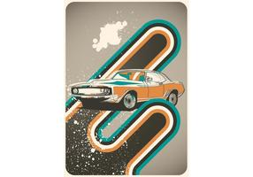 Cartel Coches Retro Vector