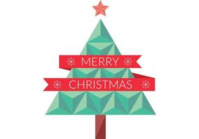 Flat Geometric Christmas Tree Vector