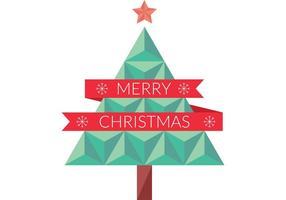 Vlakke Geometrische Kerstboom Vector