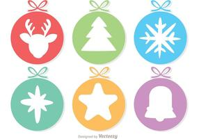 Circle Cristmas Ornament Decoration Pack Vector
