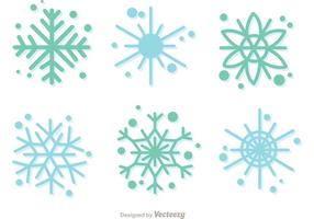 Sneeuwvlok Cristmas Decoratie Vector Pack