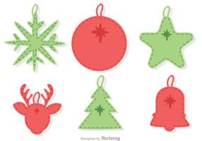 Stitched Christmas Ornament Decoratie Vector Pack