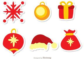 Jul dekoration Vector Pack 3