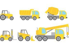 Vectores de vehículos de construcción