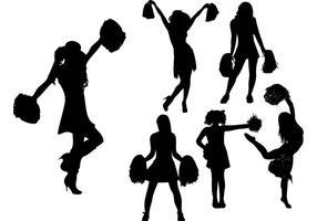 Cheerleader Silhouette Vektoren