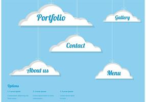 Free Vector Clouds Webdesign