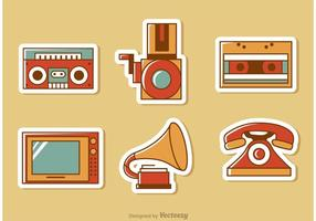 Retro Estilo Media Vector Pack 1