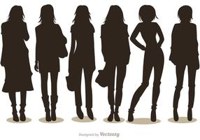 Pack di Silhouette Fashion Girl Vectors 1