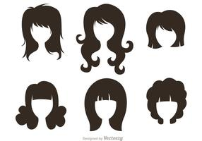 Black-silhouette-woman-with-hairstyles-vectors
