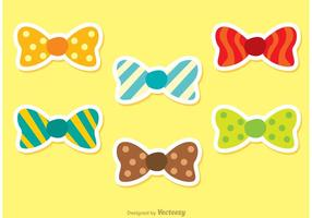 Set Van Vector Bow Ties