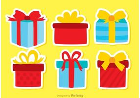 Gift Box Verjaardag Icon Vectors Pack