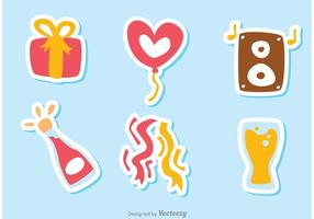 Color cumpleaños Icon Vectores Pack 3