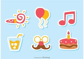 Color cumpleaños Icon Vectores Pack 2