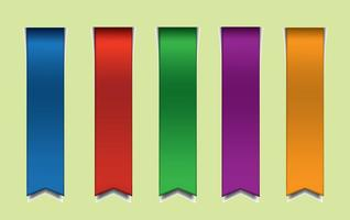 Free-colorful-vector-ribbons