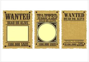 Wanted-poster-vectors