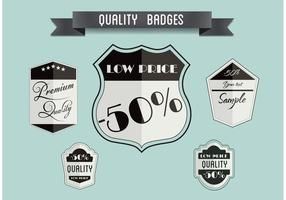 Free Vector Badge Set
