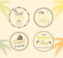 Free Summer Badge Vectors