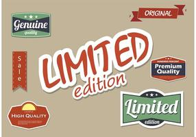 High Quality and Limited Edition Vector Label Set