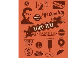 Free Retro Vector Elements