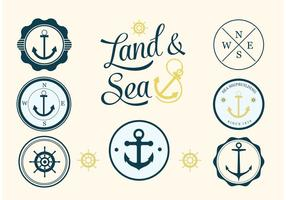 Free nautical vector label set