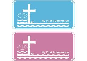 First Communion Banner Vectors