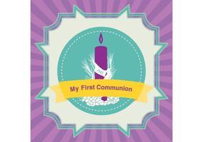 Primer vector de la tarjeta de la comunión
