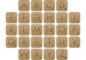 Scrabble Font Type de vecteur