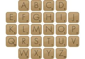 Scrabble typsnitt vektor typ