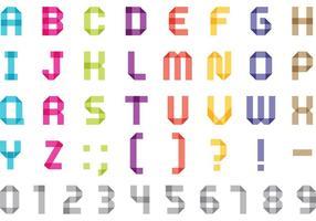 Origami Font Vectors