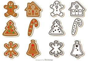 Paquete de vectores de galletas de pan de jengibre