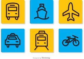 Transport Pictograms Sets Vectors
