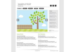 Eco Web Page Vector Sjabloon